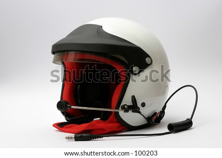 top class car racing helmet - stock photo