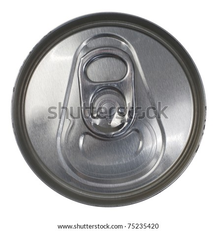 Top Down View of a Silver Soda Pop Can