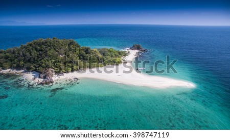 Top eye view from paradise island of Thailand - stock photo