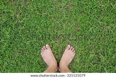 top foot grass unique perspective