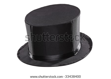 Top hat isolated against white background - stock photo