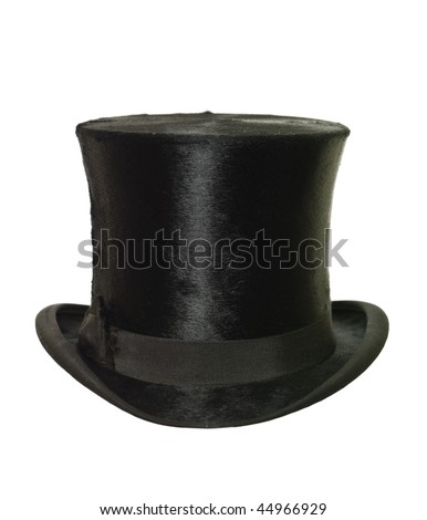 Top Hat isolated on white background - stock photo