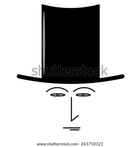 Top Hat Man - stock photo