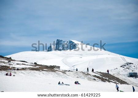 "top of a mountain called ""Veleta"" in Sierra Nevada - stock photo"