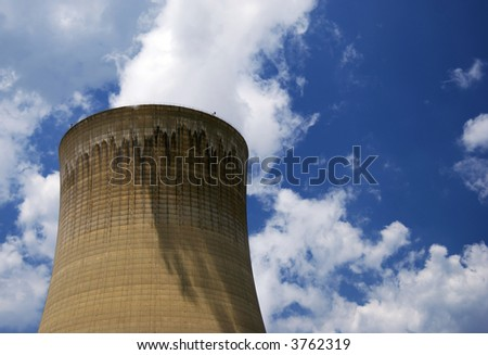 Top of a Nuclear Reactor - stock photo
