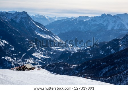 Top of Alpes - stock photo
