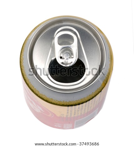 Top of an open can
