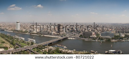 Top of Cairo City from tv tower, Panorama - Egypt