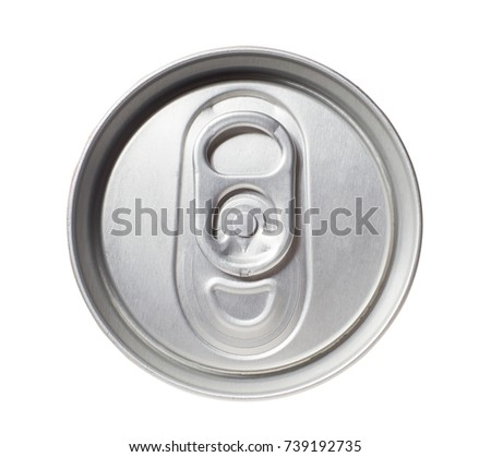 Top of drink can isolated