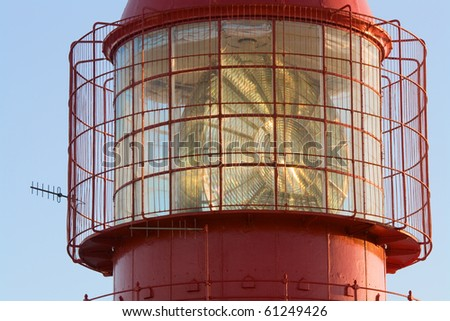 Top of Lighthouse - stock photo