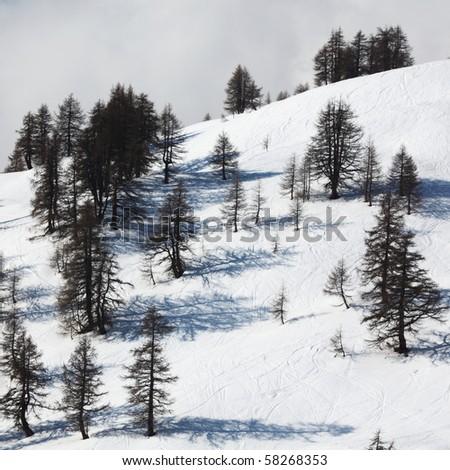 top of mountains - stock photo