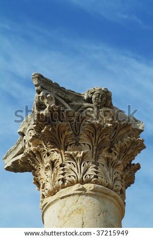 top of the column - stock photo