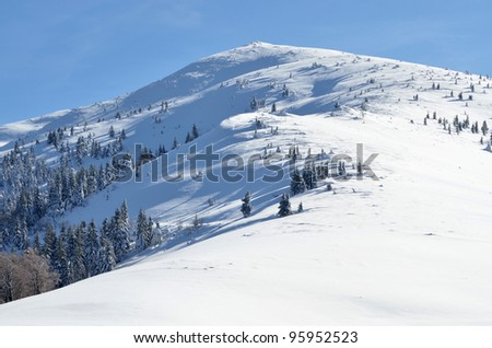 top of the mountain - stock photo