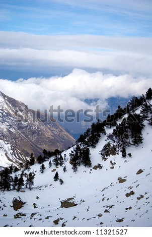 top of the moutain - stock photo
