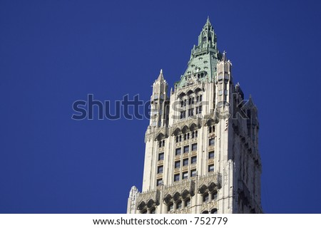 Top of the woolworth building was once the tallest skyscraper until