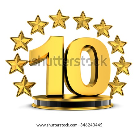 Top 10 of the year (done in 3d) - stock photo