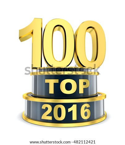 Top 100 of the year 2016 (done in 3d rendering)