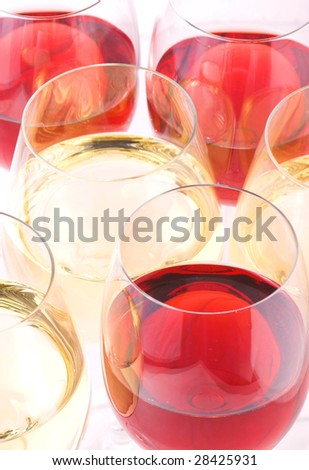 top of wine glasses