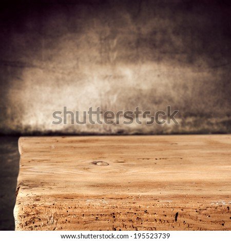 top of wood and wall  - stock photo