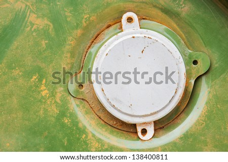 Top part of oil barrel - stock photo