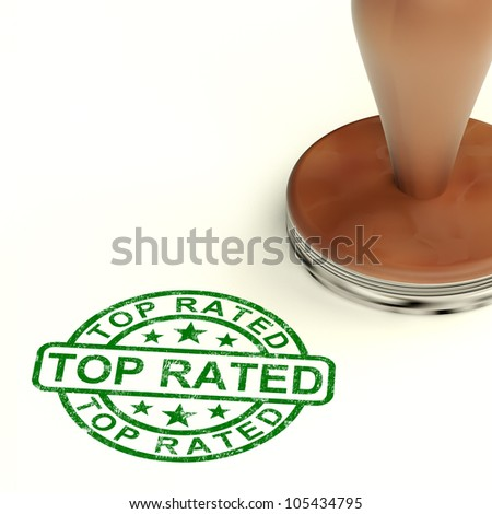 Top Rated Stamp Shows Best Services Or Products - stock photo