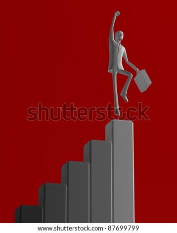 Top Salesperson / Bar Chart - stock photo