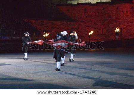 Top Secret Drum Corps of Switzerland at Edinburgh Military Tattoo 2006 - stock photo