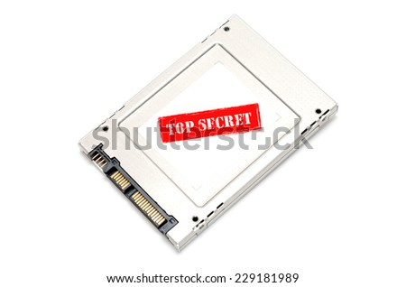 Top secret information on Solid State Disk concept - stock photo