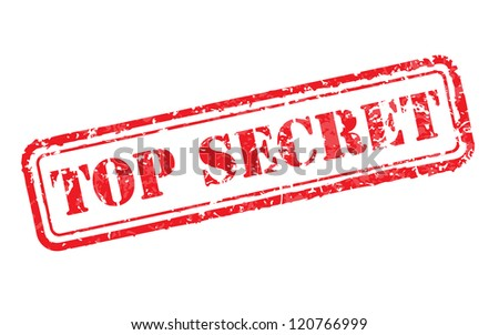 Top secret rubber stamp illustration - stock photo