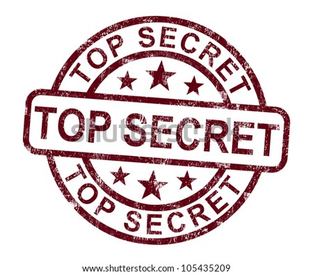 Top Secret Stamp Showing Classified Private Correspondence - stock photo