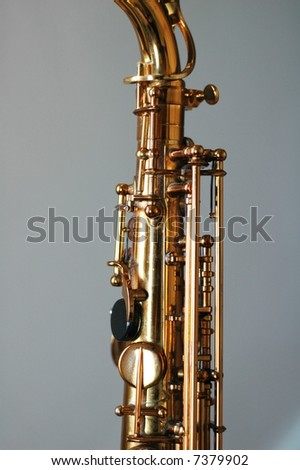 top section of an alto sax / saxophone