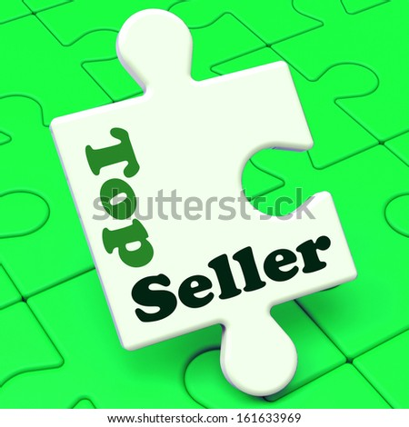 Top Seller Puzzle Showing Best Premium Services Or Product - stock photo