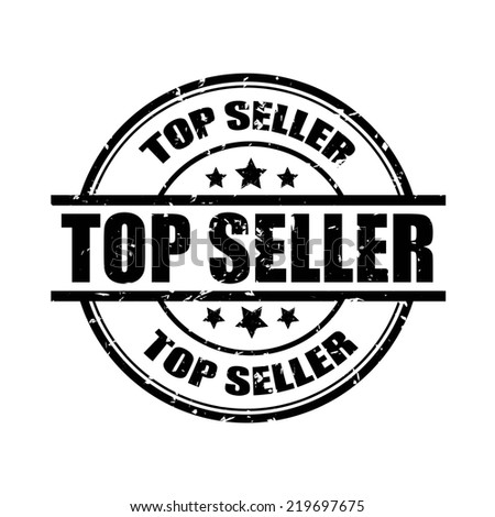 Top seller rubber stamp on white background. - stock photo