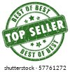 Top seller stamp - stock photo