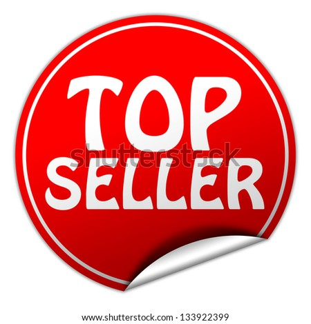 top seller sticker - stock photo