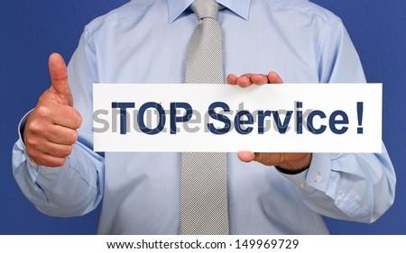 TOP Service - stock photo