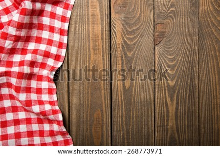 Top, tablecloth, view. - stock photo