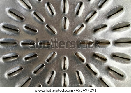 top texture of pan for grill - stock photo