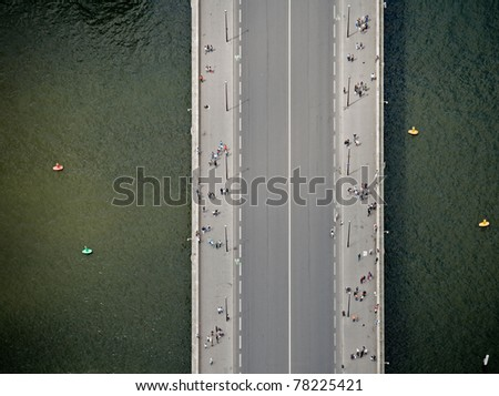 Top view at bridge
