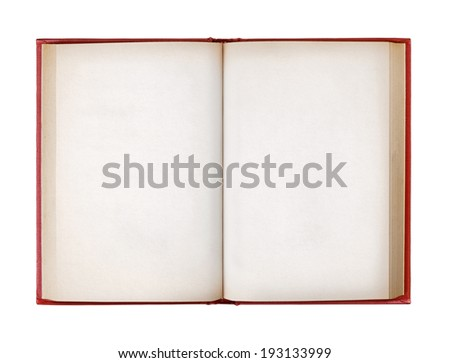 top view book isolated on white background - stock photo