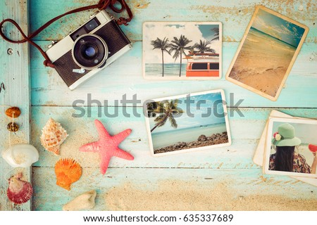 Retro Camera Instant Paper Photo Album Stock 566687146