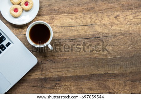 Top View Home Office Table Laptop Stock Photo Image Royalty Free