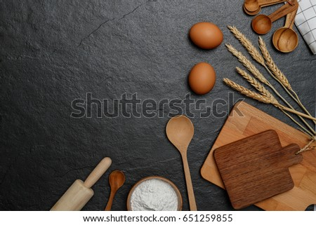 Kitchen Utensils Border old wooden spoon stand rustic kitchen stock photo 367610501