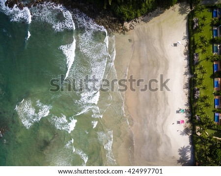 Top View of a Beach, Brazil - stock photo