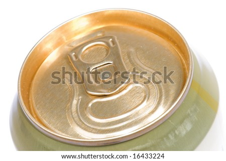 Top view of a Golden Beer Can .