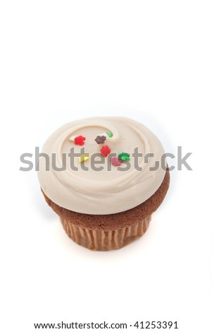 Top view of a maple cupcake - stock photo