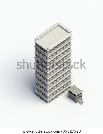 top view of a modern building - stock photo
