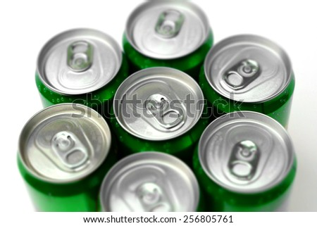 Top view of a soft drinks can - stock photo