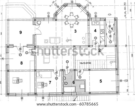 top view architect drawing on architectural stock photo 347420135 shutterstock. Black Bedroom Furniture Sets. Home Design Ideas