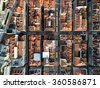 Top View of Baixa Chiado, Lisbon, Portugal - stock photo